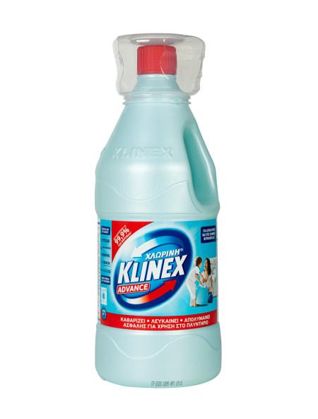 Klinex advance χλωρίνη πλυντηρίου ρούχων μπλε 2L
