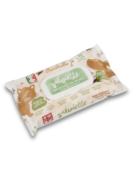 Υγρά μαντηλάκια για κατοικίδια Coconut 40 τεμάχια