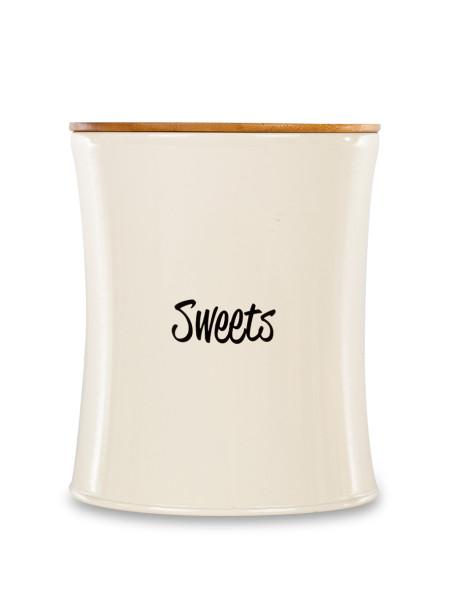 """Δοχείο μεταλλικό """"Sweets"""" με ξύλινο καπάκι"""
