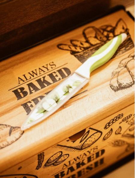 Μαχαίρι γενικής χρήσης με σχέδιο μήλο και θήκη