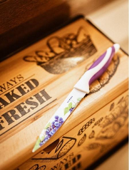 Μαχαίρι γενικής χρήσης με σχέδιο φρούτα και θήκη