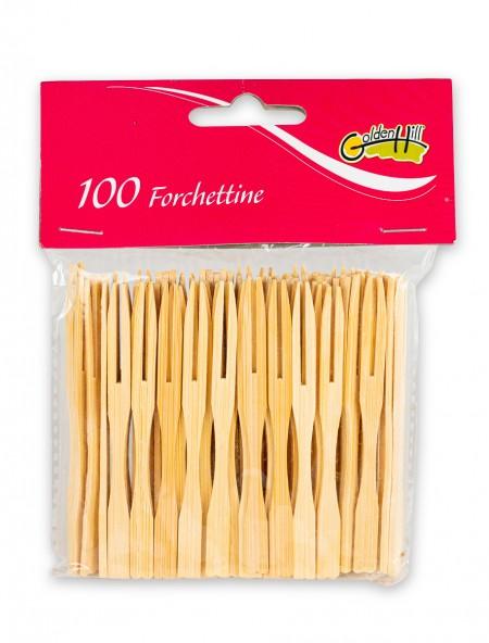 Οδοντογλυφίδες σε σχήμα πιρουνιού σετ 100 τεμαχίων