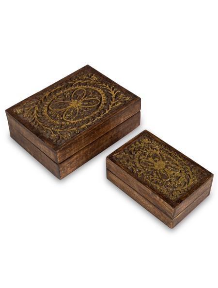Διακοσμητικό κουτί ανάγλυφο σετ 2 τεμαχίων