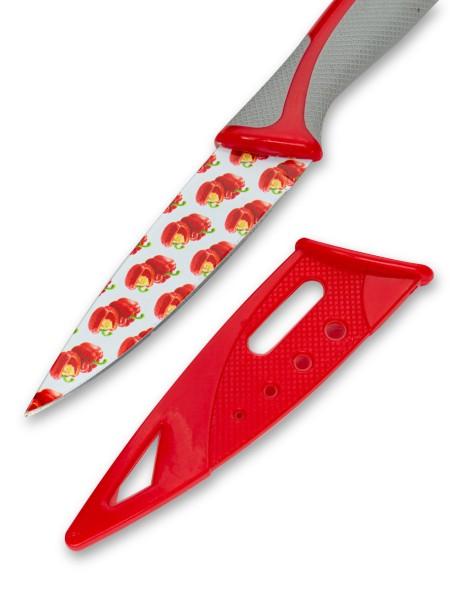 Μαχαίρι γενικής χρήσης με σχέδιο πιπεριά και θήκη