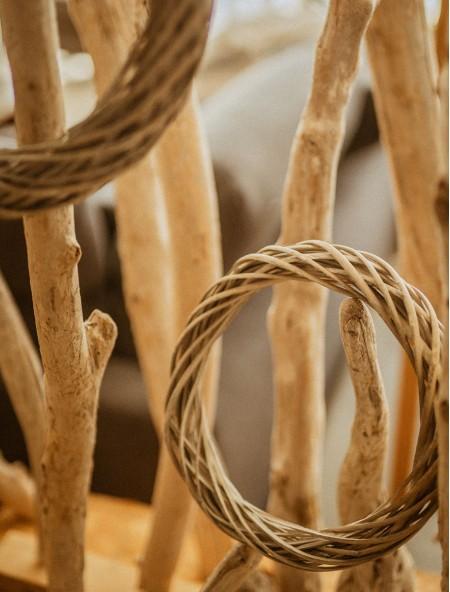 Διακοσμητικό στεφάνι ξύλινο