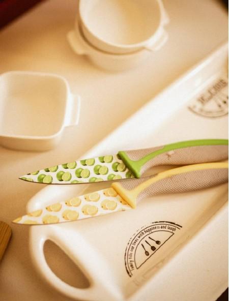 Μαχαίρι γενικής χρήσης με σχέδιο λεμόνια και θήκη