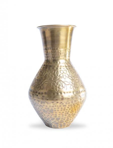 Βάζο μεταλλικό χρυσό