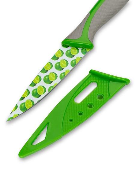 Μαχαίρι γενικής χρήσης με σχέδιο λάιμ και θήκη