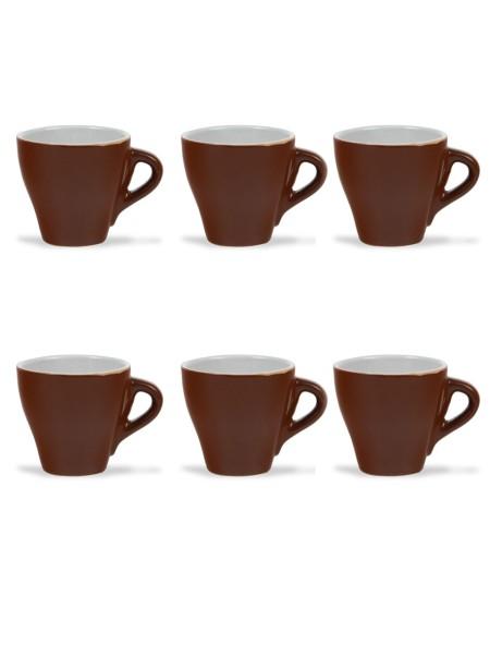 Φλυτζάνι κεραμικό καφέ σετ 6 τεμαχίων καφέ