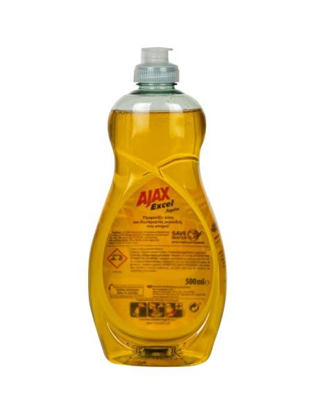 Ajax excel υγρό πιάτων λεμόνι 500ml