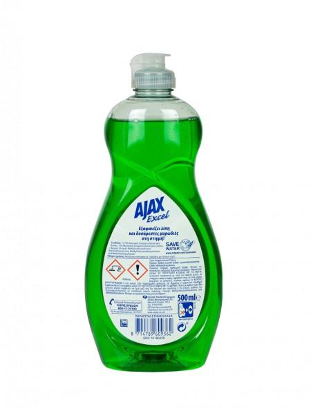 Ajax excel υγρό πιάτων μήλο 500ml
