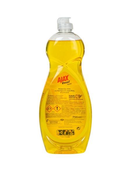 Ajax υγρό πιάτων λεμόνι 750ml