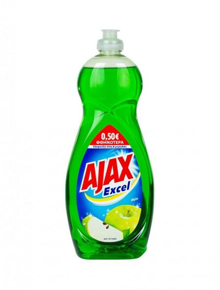 Ajax υγρό πιάτων σταφύλι και μήλο 750ml