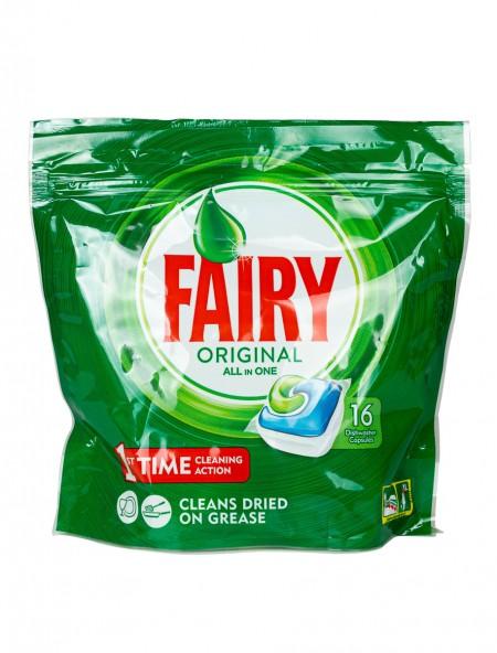 Fairy original all in 1 κάψουλες πιάτων 16 τεμάχια
