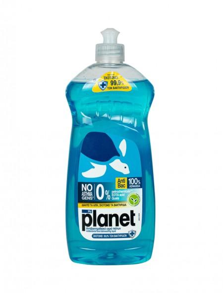 Planet antibac 0% υγρό πιάτων 625ml