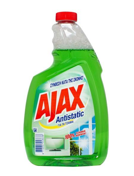 Ajax antistatic ανταλλακτικό υγρό τζαμιών πράσινο 750ml