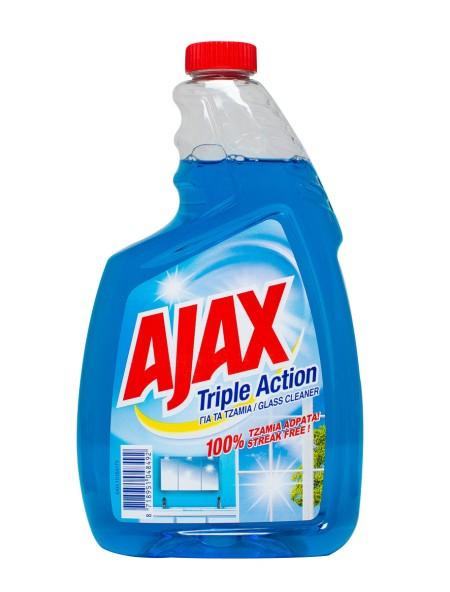 Ajax triple action ανταλλακτικο υγρό τζαμιών 750ml