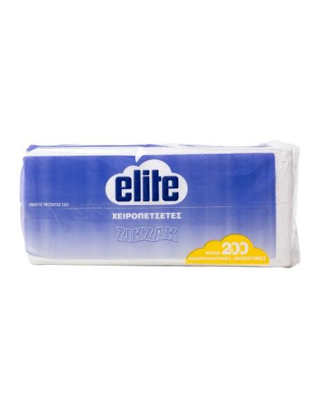 Elite χαρτοπετσετα ζικ ζακ 200 φυλλά