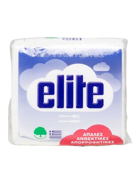 Elite χαρτοπετσέτες φαγητού λευκές 92gr