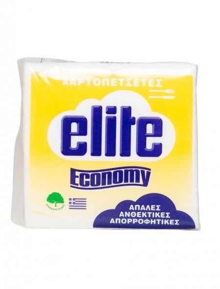 Elite economy χαρτοπετσέτες λευκές
