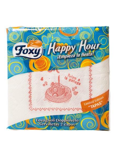 Foxy happy hour χαρτοπετσέτες 50 τεμάχια