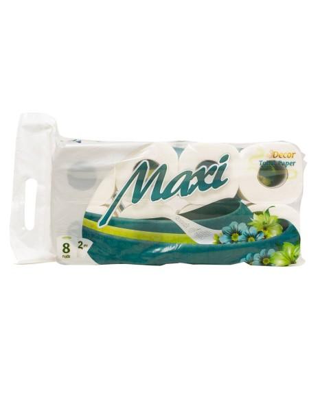 Maxi decor flat ρολό υγείας 8x57gr