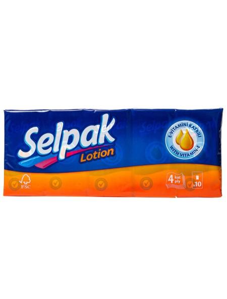 Selpak χαρτομάντηλα αρωματισμένα lotion 10 τεμάχια