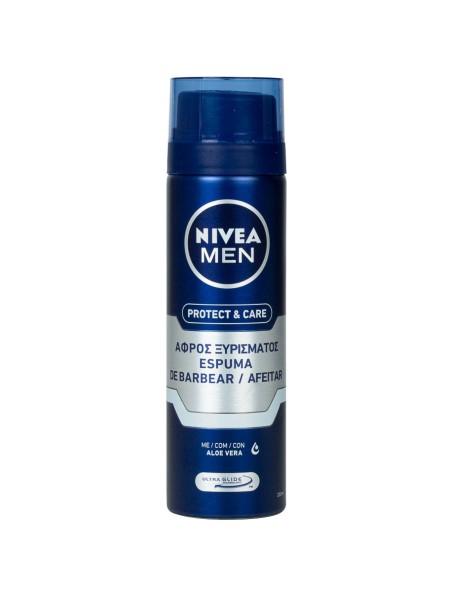 Nivea men protect & care αφρός ξυρίσματος 200ml