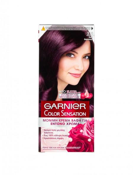 Garnier Color Sensation 3.16 βαθύ δαμασκηνί βαφή μαλλιών 40ml