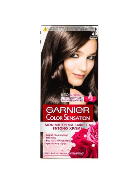 Garnier Color Sensation 4.0 καστανό βαφή μαλλιών 40ml