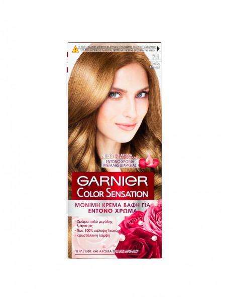 Garnier Color Sensation 7.1 ξανθό σαντρέ βαφή μαλλιών 40ml