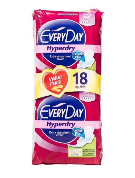 EveryDay hyperdry maxi night σερβιέτες 18 τεμάχια