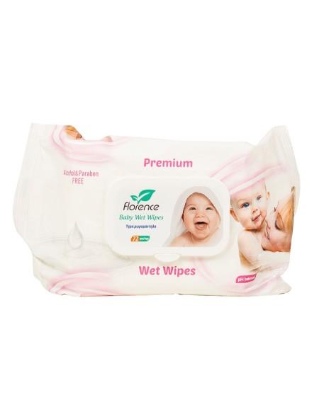 Florence premium μωρομάντηλα 72 τεμάχια