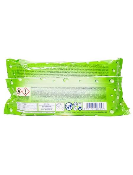 Wet Hankies lemon αντιβακτηριακά υγρά μαντηλάκια 72 τεμάχια