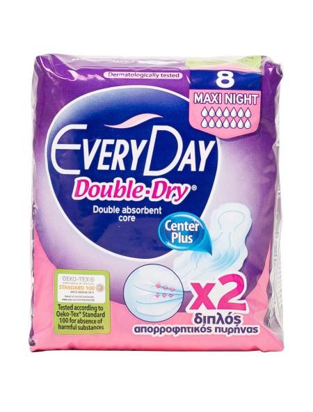 EveryDay double dry maxi night σερβιέτες 8 τεμάχια
