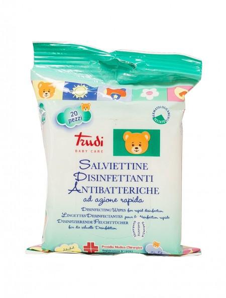Trudi baby care αντιβακτηριακά μαντηλάκια 20 τεμάχια