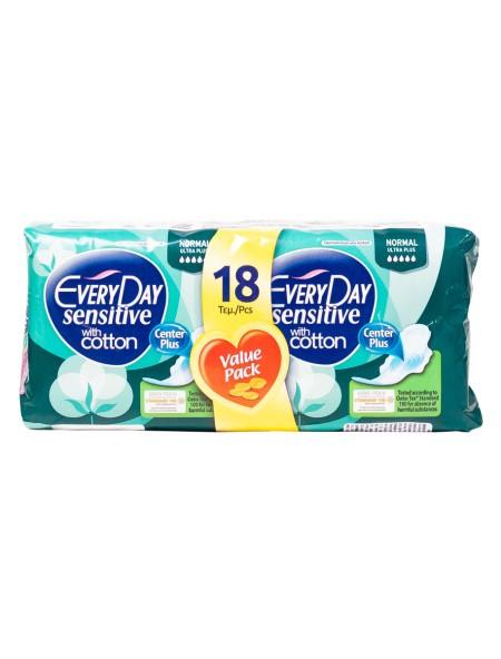 EveryDay normal sensitive with cotton σερβιέτες 18 τεμάχια