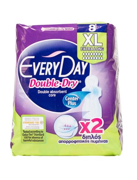 EveryDay double dry extra long σερβιέτες 8 τεμάχια