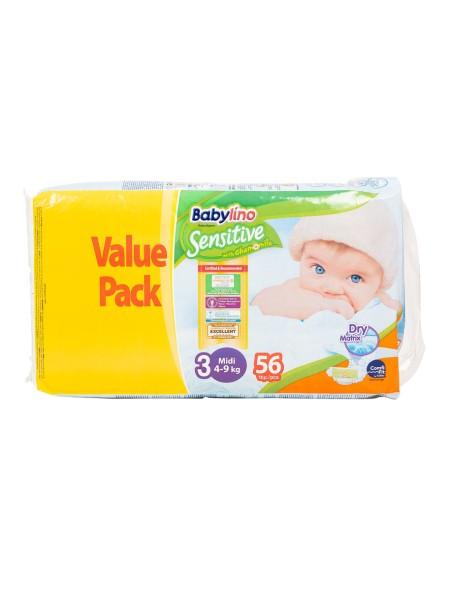 Babylino sensitive N.3 4-9kg 56 τεμάχια