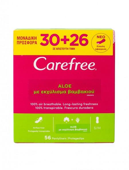 Carefree aloe S/M σερβιετάκια 30+26 τεμάχια