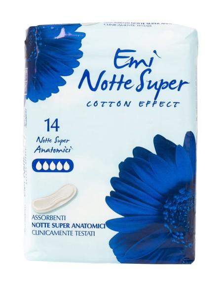 Emi notte super cotton effect σερβιέτες 14 τεμάχια