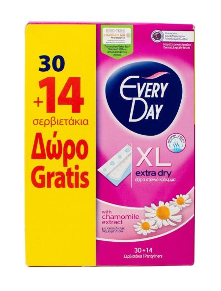 EveryDay extra dry XL σερβιετάκια 30+14 τεμάχια