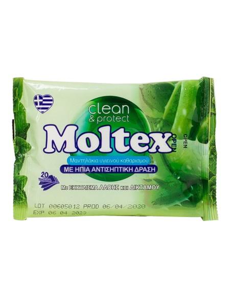 Moltex αντισηπτικά μαντηλάκια 20 τεμάχια