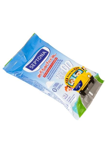 Septona παιδικά αντιβακτηριακά μαντηλάκια 15 τεμάχια
