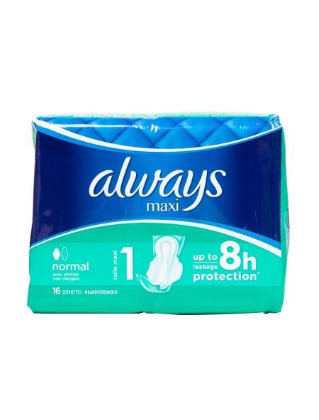 Always maxi normal σερβιέτες 16 τεμάχια