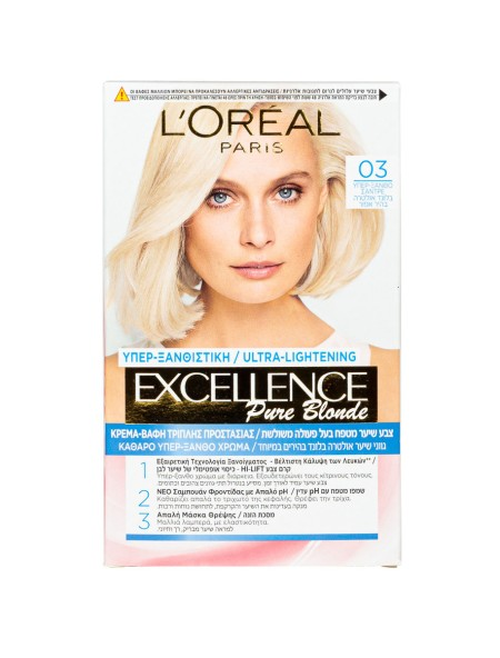 L'oreal Excellence N.03 υπέρξανθο σαντρέ βαφή μαλλιών