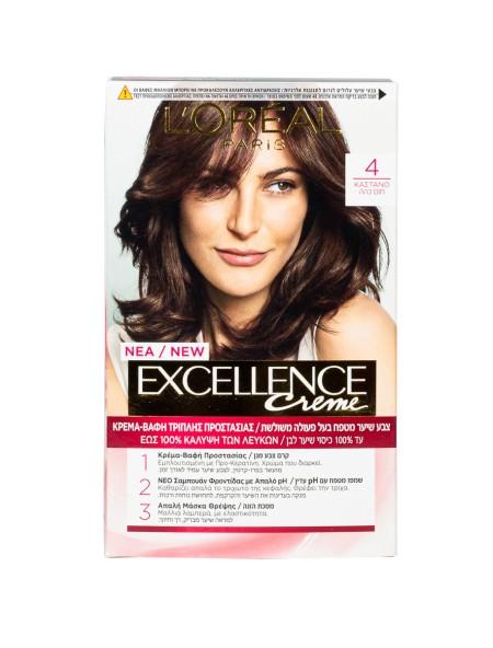 L'oreal Excellence N.4 καστανό βαφή μαλλιών