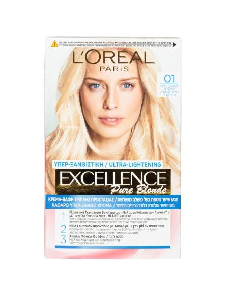 L'oreal Excellence N.01 υπέρξανθο φυσικό βαφή μαλλιών