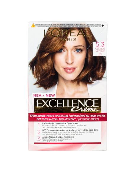 L'oreal Excellence N.5.3 καστανό ανοιχτό χρυσαφί βαφή μαλλιών