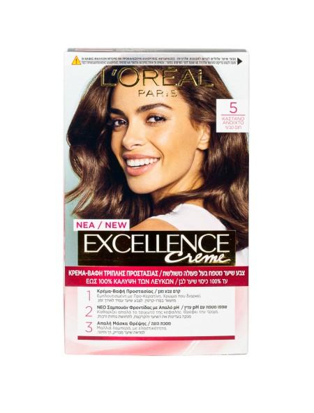 L'oreal Excellence N.5 καστανό ανοιχτό βαφή μαλλιών